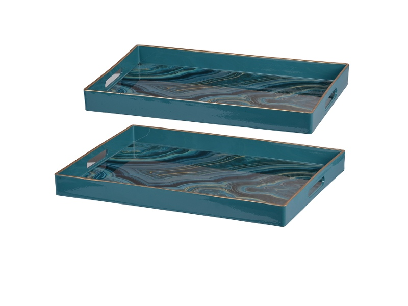 Saltia 2 Piece Rectangular Tray Set