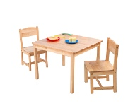 LivingStyles Kidkraft Aspen Table and 2 Chairs - Natural