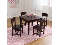 LivingStyles Kidkraft Farmhouse 5 Piece Kids Table & Chairs Set, Espresso