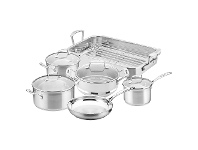 LivingStyles Scanpan Impact 6 Piece Cookware Set with Roaster