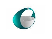 LivingStyles Wesco Spacy Steel Fruit Basket - Turquoise
