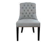 LivingStyles Philippe Tufted Fabric Dining Chair, Storm Blue