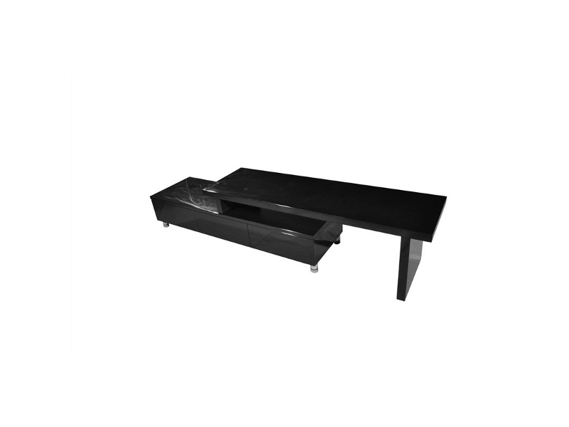 Xena Extendable Entertainment Unit in High Gloss black