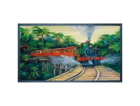 LivingStyles Jenny Sanders Printed Rubber Doormat, Puffing Billy, 70x40cm