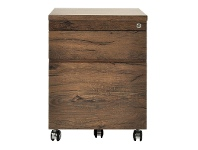 Teresa 2 Drawer File Cabinet with Castors, Antique Oak