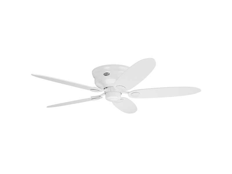 Hunter Low Profile III White Ceiling Fan with White / Maple Switch Blades
