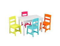 LivingStyles Kidkraft Kids Highlighter Table and 4 Chairs Set
