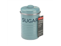 LivingStyles Typhoon Vintage Kitchen Sugar Canister - Blue