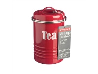 LivingStyles Typhoon Vintage Kitchen Tea Canister - Red