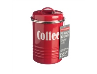 LivingStyles Typhoon Vintage Kitchen Coffee Canister - Red