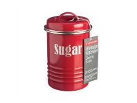 LivingStyles Typhoon Vintage Kitchen Sugar Canister - Red