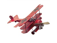 LivingStyles Boutica Handmade Tin Aircraft Model - Large Red Baron Triplane