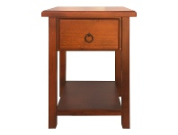 LivingStyles Alford Pine Timber Single Drawer Night Stand