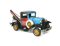 LivingStyles Boutica Handmade Tin Vehicle Model - Ford Tow Truck