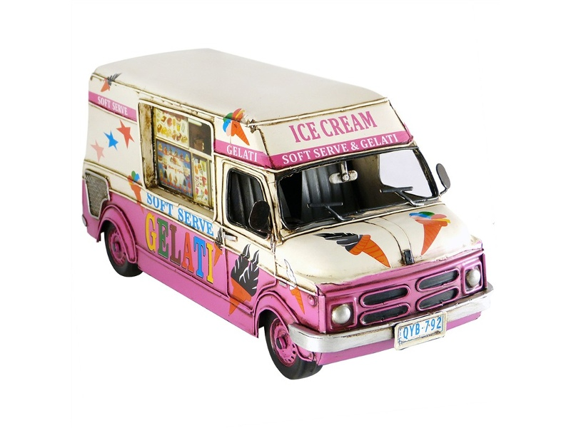 Boutica Handmade Tin Ice Cream Van Model