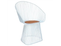 LivingStyles Supra Wire Metal Chair with Timber Seat