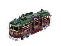 LivingStyles Boutica Handmade Tin City Circle Tram Model