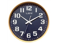 LivingStyles Leni Large Wooden Round Wall Clock - Navy