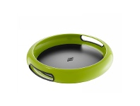 LivingStyles Wesco Spacy Steel Serving Tray with Large Handles - Lime Green