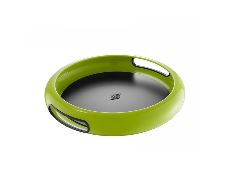 Wesco Spacy Steel Serving Tray with Large Handles - Lime Green