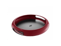 LivingStyles Wesco Spacy Steel Serving Tray with Large Handles - Rubi Red