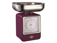 LivingStyles Wesco Stainless Steel Retro Scale with Clock - Lilac