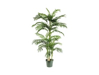 LivingStyles Potted Artificial Cane Palm Tree, Type A, 198cm