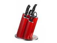 Wesco Stainless Steel Asia Knife Block Set, Red