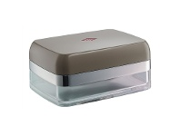 LivingStyles Wesco Aluminium Butter Dish - Warm Grey