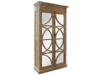 LivingStyles Keats Reclaimed Pine Timber and Mirror Armoire