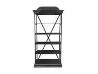 LivingStyles Boco Iron & Timber Bakers Stand, Black