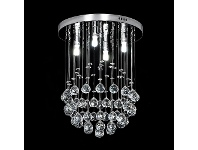 LivingStyles Jupiter Crystal LED Ceiling Light, 30x40cm