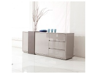 LivingStyles Lark High Gloss 2 Door 3 Drawer 180cm Buffet Table