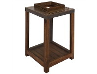 LivingStyles Sefton Wood and Metal Opening Square Lantern