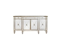 LivingStyles Cassidy Mirrored 4 Door 4 Drawer 179cm Buffet Table