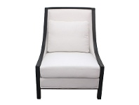 LivingStyles Resort Linen Upholstered Solid Timber Armchair