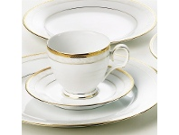 LivingStyles Noritake Hampshire Gold Fine China Teacup with Saucer Set
