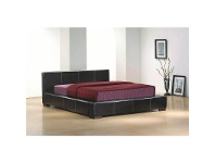 LivingStyles Deluxe Bicast Leather Bed, Queen, Dark Chocolate