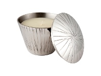 LivingStyles Charlie Scented Candle with Metal Candle Holder, Day Spa