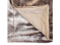 LivingStyles Kilburn & Scott Grizzly Faux Fur Throw, Chocolate