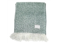 LivingStyles Cael Faux Mohair Throw, Duck Egg Blue