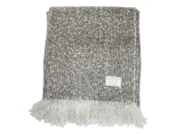 LivingStyles Cael Faux Mohair Throw, Grey