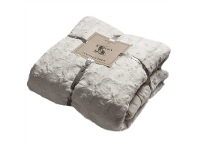 LivingStyles Kilburn & Scott Leah Faux Fur Throw, Cream