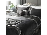 LivingStyles Parisian House Deco Sequin Bed Runner, Charcoal