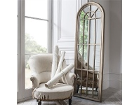 LivingStyles Calam Panelled Arch Window Mirror, 178cm