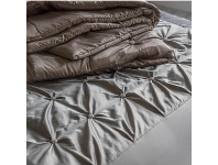 LivingStyles Bivio Button Throw, Silver