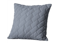 LivingStyles Becky Quilted Cotton Scatter Cushion, Grey