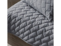 LivingStyles Becky Quilted Cotton Throw, Grey