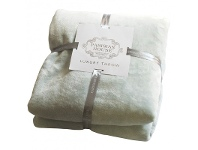 LivingStyles Parisian House Flannel Fleece Throw, Duck Egg