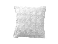 LivingStyles Fedula Faux Fur Cushion, Cream